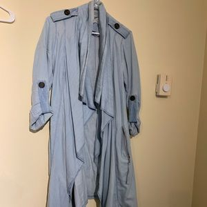 Bcbg denim trench